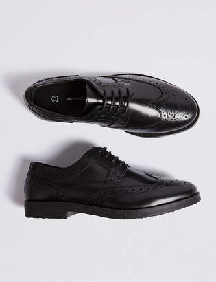 Marks and Spencer Kids' Leather Brogue School Shoes