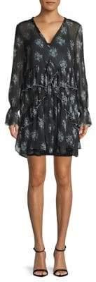 Cinq à Sept Farris Printed Silk Shift Dress
