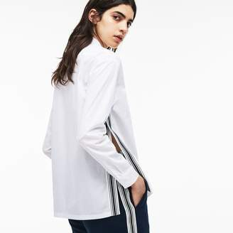 Lacoste Women's Regular Fit Contrast Bands Shirt