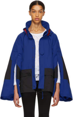 Junya Watanabe Blue and Black Oversized Extra Long Sleeve Jacket