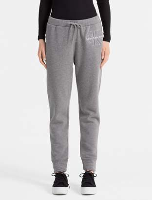 Calvin Klein monogram logo heathered sweatpants