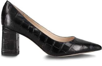 Marc Fisher Zala Crocodile-Embossed Leather Pumps