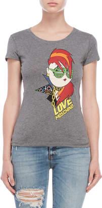 Love Moschino Rockstar Logo Tee