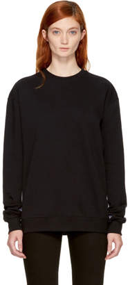 MSGM Black Logo Tape Sweatshirt