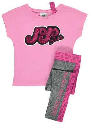 George JoJo Siwa Pink T-Shirt and Leggings Outfit