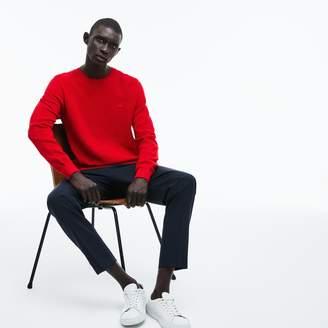 Lacoste Men's Crew Neck Cotton Pique Sweater