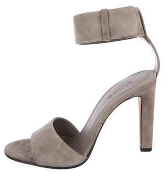 Vince Suede Ankle Strap Sandals