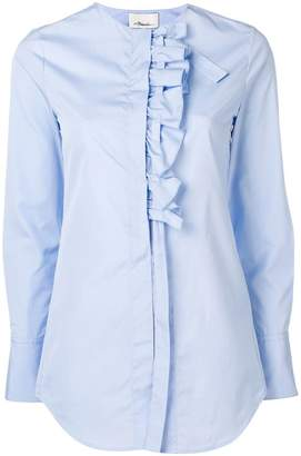 3.1 Phillip Lim ruffle placket collarless shirt