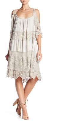 Luma Crochet Lace Cold Shoulder Dress