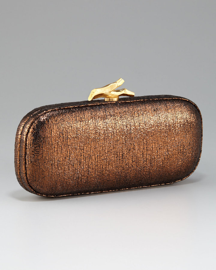 Diane von Furstenberg Lytton Minaudiere, Bronze