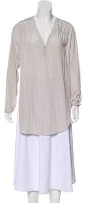 Calypso Crepe Long Sleeve Blouse