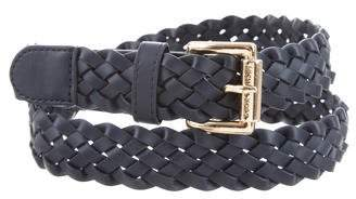 Michael Kors Leather Woven Belt