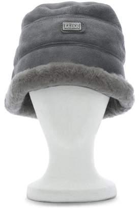 Australia Luxe Collective Co. Grey Double Faced Sheepskin Bucket Hat