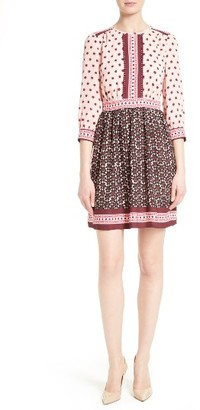 Women's Kate Spade New York Floral Tile Minidress $378 thestylecure.com