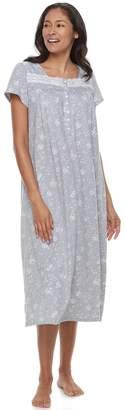 Croft & Barrow Women's Pajamas: Knit Short Sleeve Nightgown
