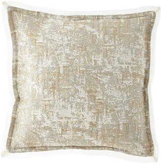 Fino Lino Linen & Lace Sinclair Gold & Silver Pillow