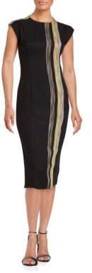 Rachel Roy Striped Knit Panel Sheath Dress