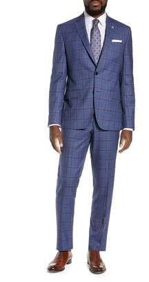 Ted Baker Trim Fit Windowpane Suit