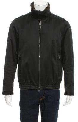 Lanvin Fur-Trimmed Flight Jacket