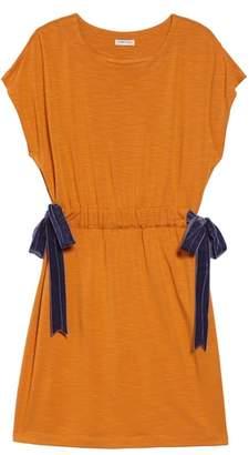 Habitual Violet Velvet Bow Dress
