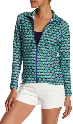Peter Millar Tamara Full Zip Scallops Print Jacket $119.50 thestylecure.com