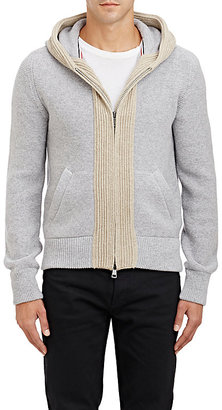 Moncler Men's Mixed-Knit Hoodie $615 thestylecure.com