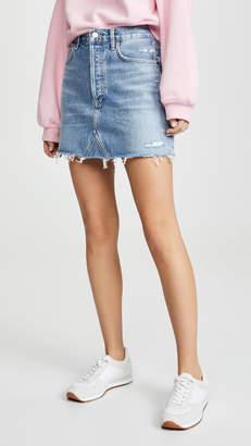 A Gold E AGOLDE Hi Rise Quinn Miniskirt