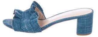 Loeffler Randall Denim Low Heel Sandals