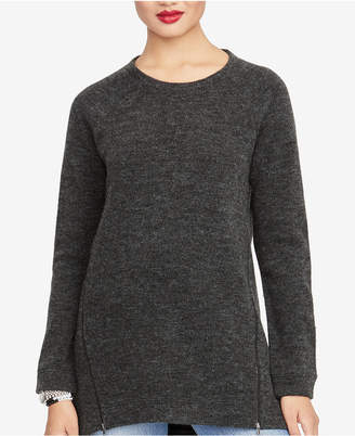 Rachel Roy Asymmetrical Zipper Sweater