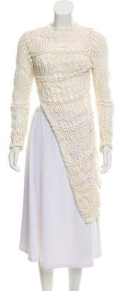 Isabel Benenato Crochet Long Sleeve top