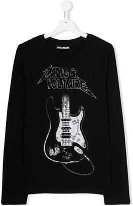 Zadig & Voltaire Kids guitar print T-shirt