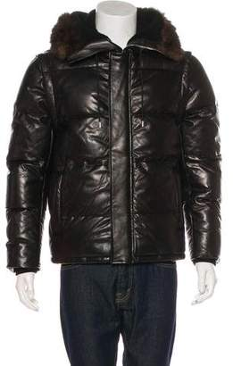 Givenchy Lambskin Fur-Trimmed Down Jacket