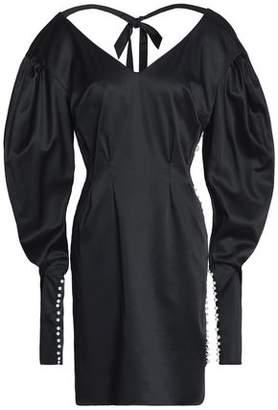 Magda Butrym Ecija Faux Pearl-Embellished Silk-Satin Mini Dress
