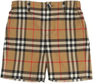 Burberry Woven Check Cotton Shorts