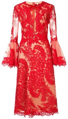 Marchesa floral lace dress
