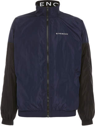 Givenchy High-Necked Two-Tone Shell Jacket