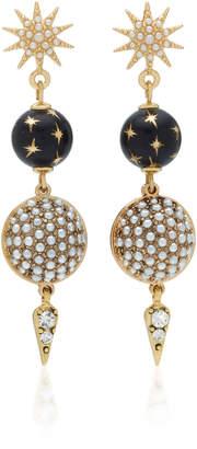 Lulu Frost Tribute Gold-Plated and Enamel Drop Earrings