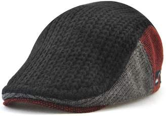 20e139ce278c0 Roffatide Men s Autumn and Winter Trend Wool Knitting Peaked Cap Beret Hat