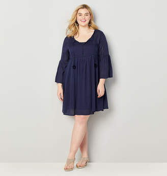Avenue Bell Sleeve Babydoll Dress