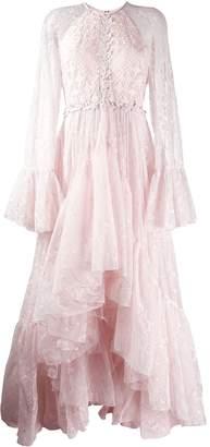 Giambattista Valli lace ruffle skirt gown