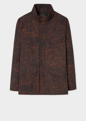 Paul Smith Men's 'Painted Scribble' Print Cotton-Blend Field Jacket