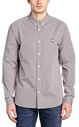 Pretty Green Men's Glendale Gingham Long Sleeve Classic Regular Fit Casual Shirt