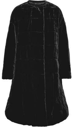 Isabel Marant Tao Oversized Velvet Coat - Black