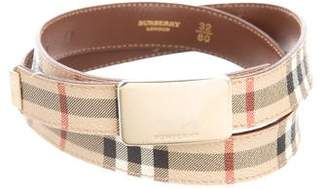 Burberry Nova Check Buckle Belt