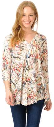 Cubism Colorful Button-Up Cardigan