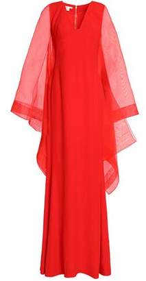 Antonio Berardi Draped Organza And Crepe Gown