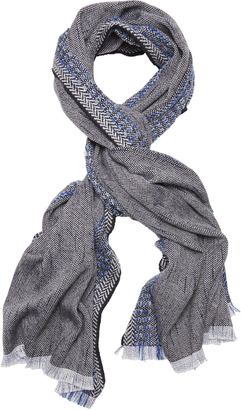 Rag & Bone Chevron Border Scarf $195 thestylecure.com