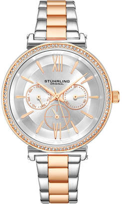 5f86944a1a Stuhrling Original Women's Multi-Function, Rose/Silver Case and Bracelet,  Silver Dial