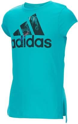 adidas Girls 4-6x High-Low Hem Graphic Tee
