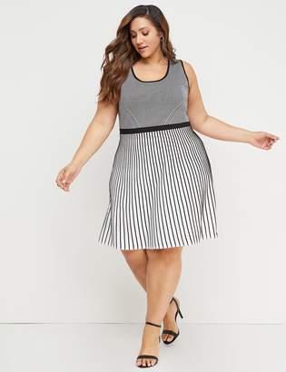c79b434042f Plus Size Black And White Striped Dress - ShopStyle